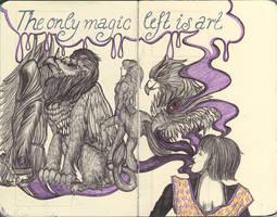 Moleskine XLVIII - The only magic left is art by simoneines