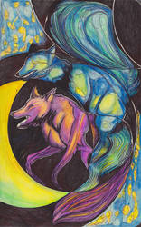 Moleskine XXI - Night of the Foxes by simoneines