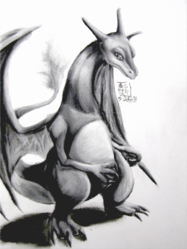 Charizard -Charcoal- by HarmoniousReprise