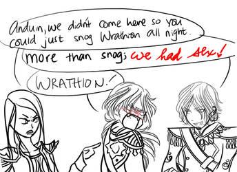 Jaina, Anduin, and Wrathion (Warcraft) by Aeodin