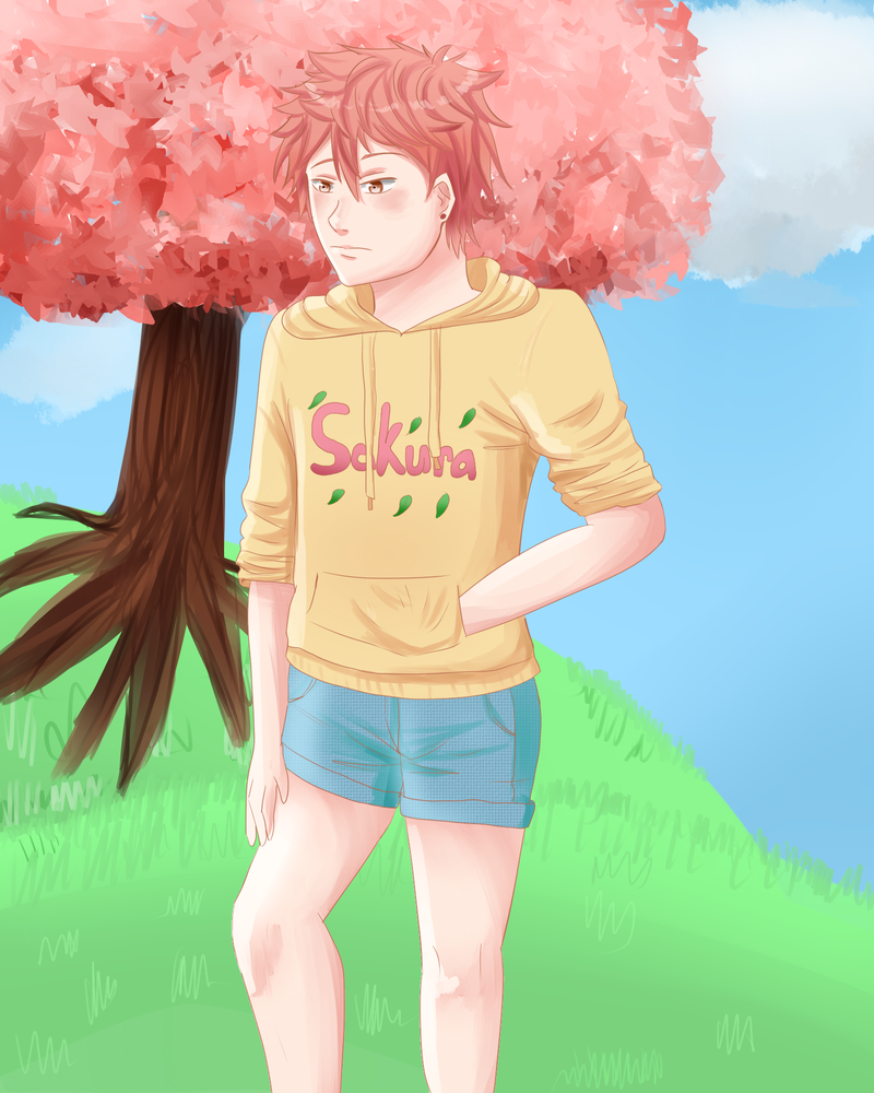 Sakura Hoodie by goldensaphire
