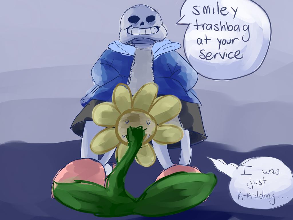 Smiley Trashbag by goldensaphire