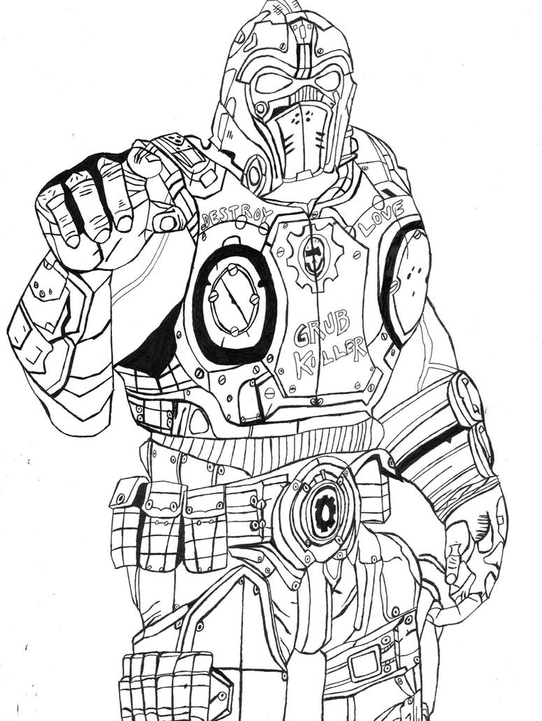 Gears of war Clayton Carmine by The-Silver-Spartan on DeviantArt