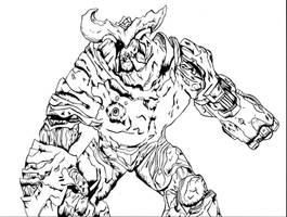 Cyberdemon- DOOM by The-Silver-Spartan