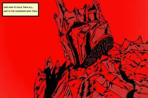 Sauron (coloured)  by The-Silver-Spartan