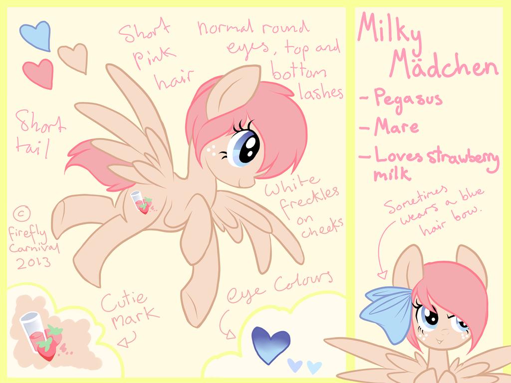 Milky Maedchen Ref Sheet by ssnugglepunk