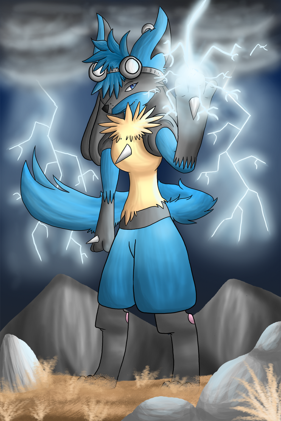 Contest: Bolt the Lucario by SilverLucario12