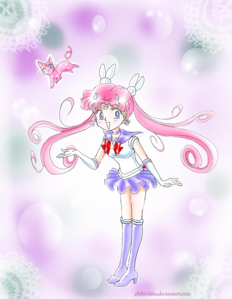 Parallel Sailor Moon + Kitten by ChibiRikku