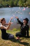 Amanda and I as Dresden Dolls