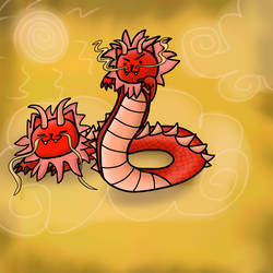 Two Headed Easter Dragon (Neko Atsume Fan Art)