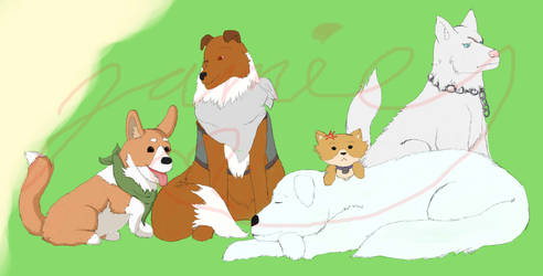 HT- Founding Dogs *wip* by Jamie-Wolfe