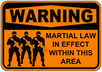 Martial Law Soldiers Sign