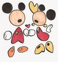 Mickey 'n Minnie Abstract by elixirXsczjX13