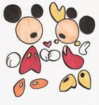 Mickey 'n Minnie Abstract
