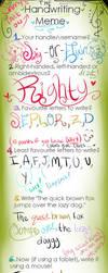Handwriting Meme by elixirXsczjX13