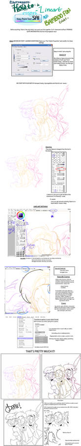 Lineart on Paint Tool Sai