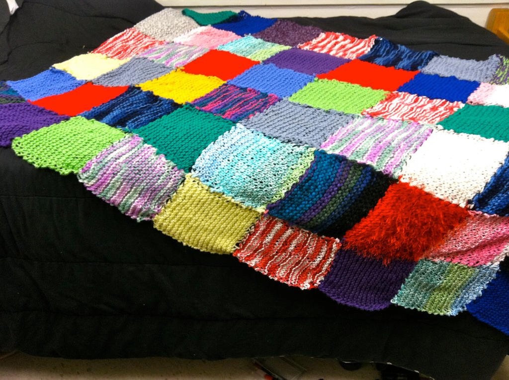 Knitting Patchwork Quilt Patterns : Knitted patchwork blanket by knagl on deviantart