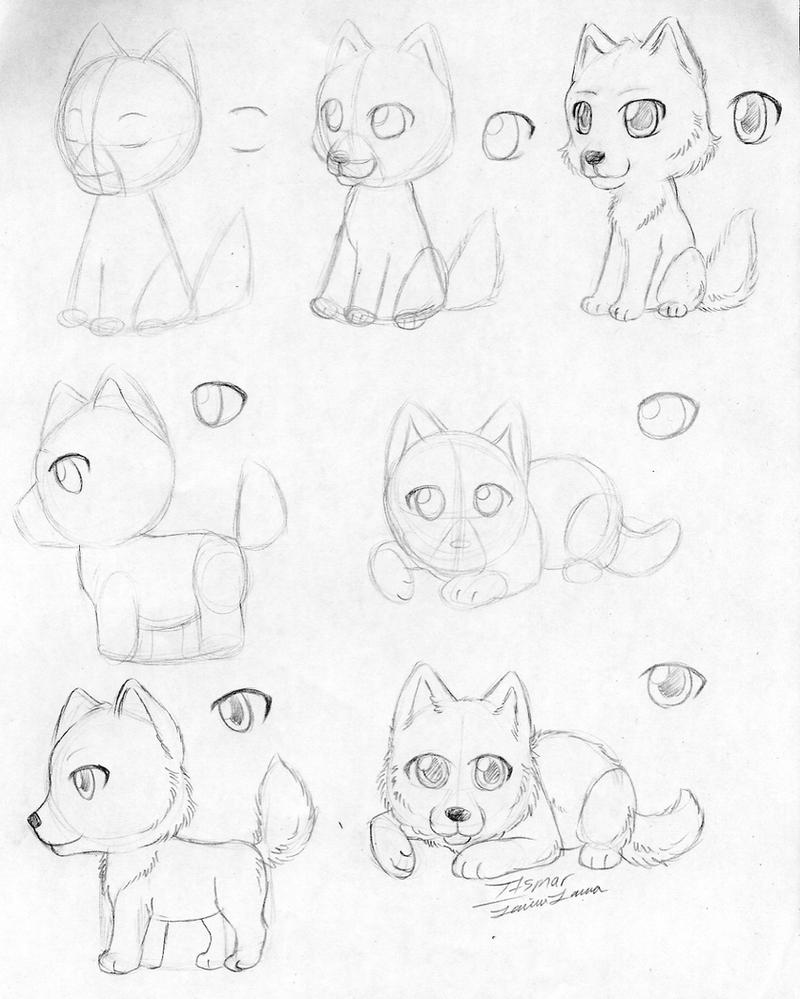 How To Draw a Chibi Wolf by itsmar