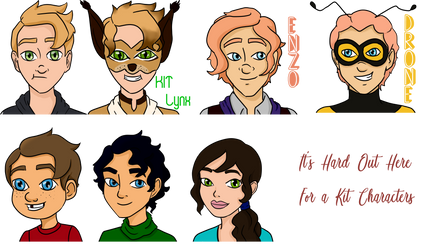 Headshots for Miraculous Ladybug by MooseWaifu