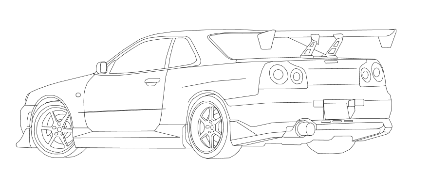 nissan r33 gtr coloring pages - photo#22