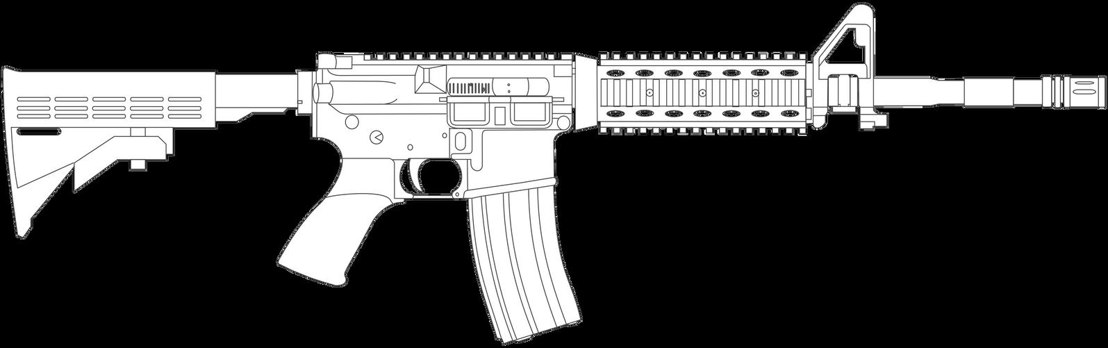Colt M4a1 Lineart By Spillnerlol On Deviantart