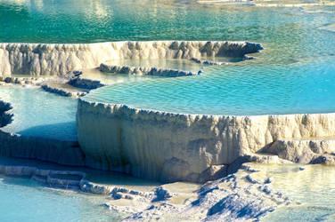 rock pools in Pumukkale , Turkey