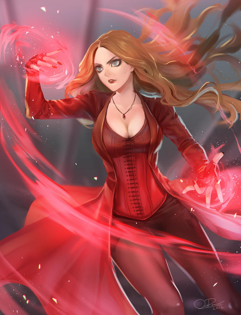 Civil war scarlet witch by o pan on deviantart - Scarlet witch boobs ...