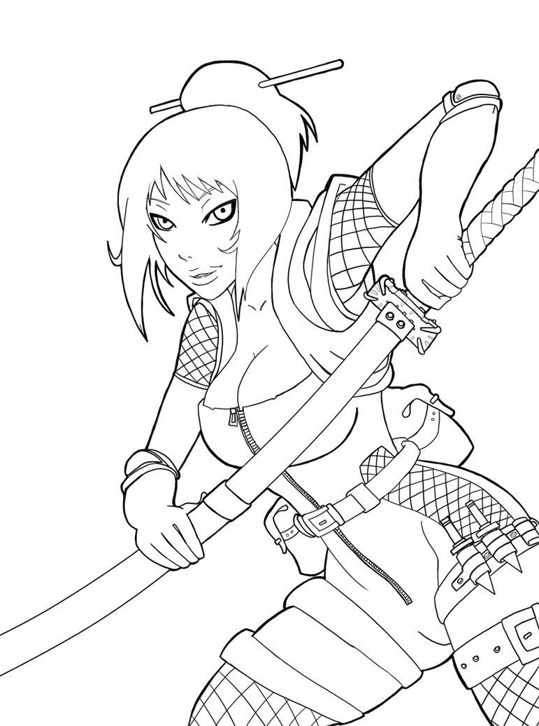 Line Art Ninja : How to draw girl line art