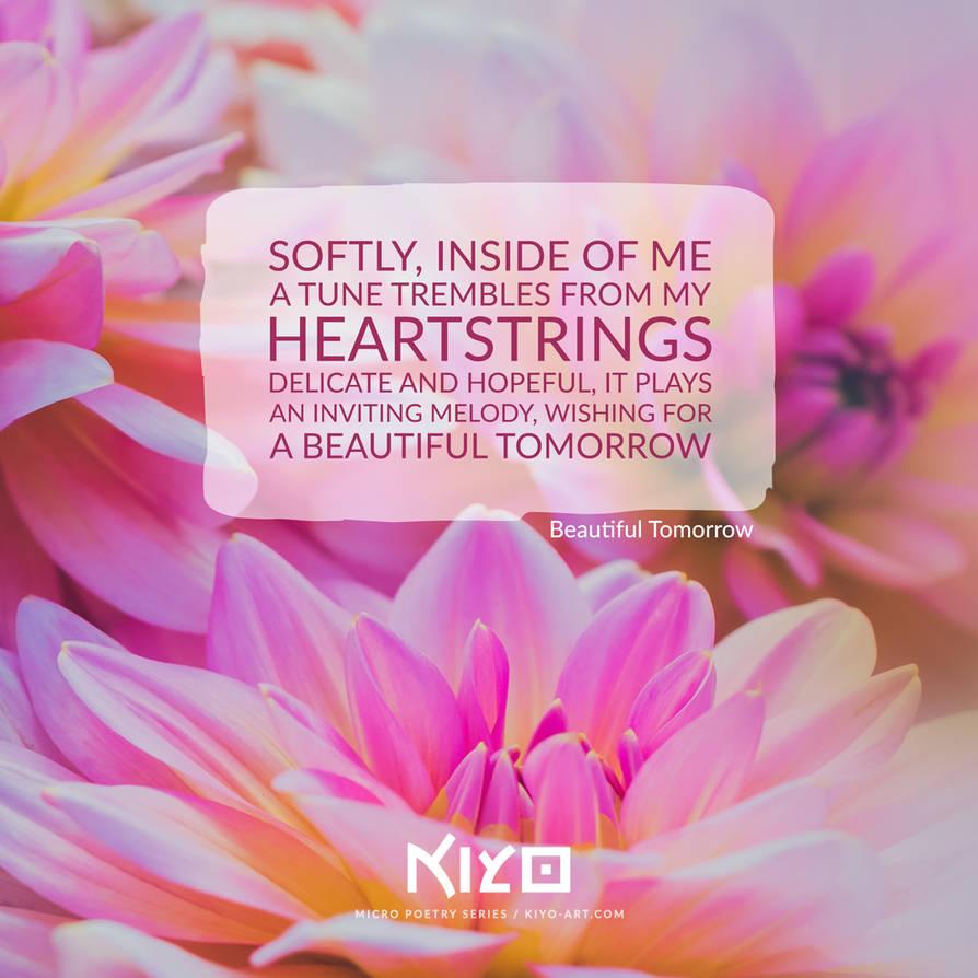 Beautiful Tomorrow by Kiyo-Poetry