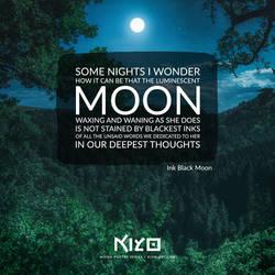 Ink Black Moon by Kiyo-Poetry