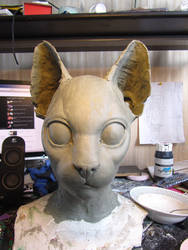 Cat mask sculpt by Puzzels