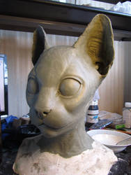 Cat mask sculpt 2 by Puzzels