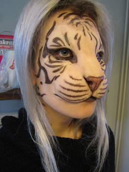 Human/tiger hybrid mask test
