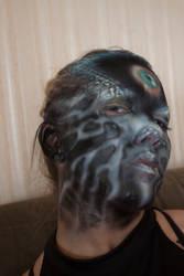 Airbrush makeup tests - evil eye 2