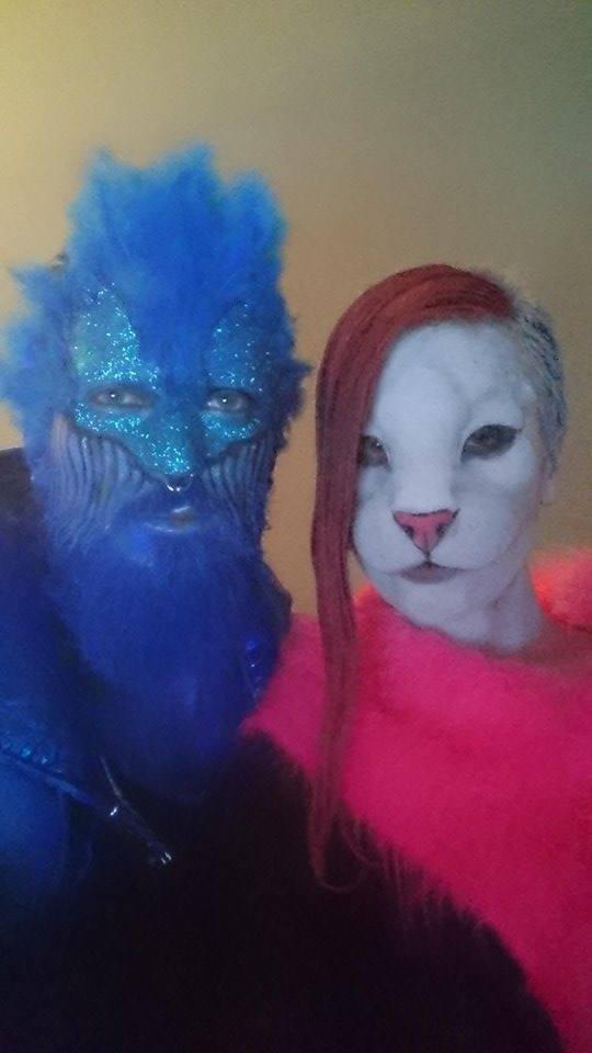 Blue Man and Pink Panther