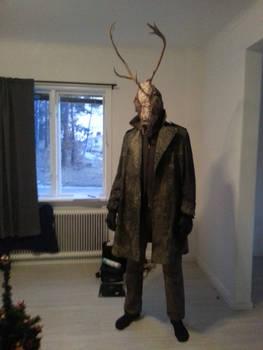 Reindeer-Man Mask, and costume