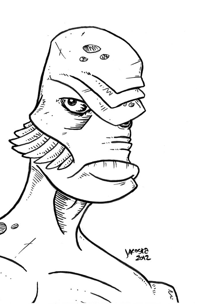 Gillman creature from the black lagoon by jesseacosta on for Creature from the black lagoon coloring pages