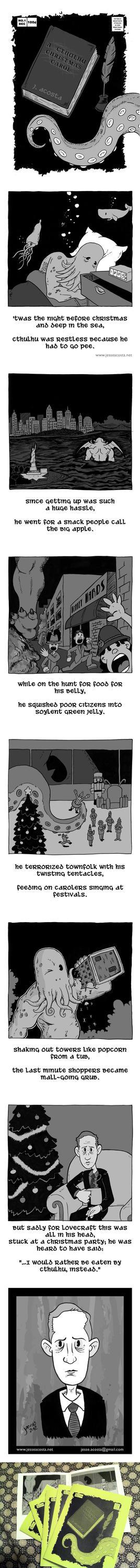 A Cthulhu Christmas Carol minicomic by JesseAcosta