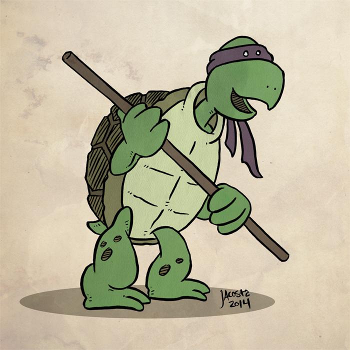 Cartoony Donny TMNT by JesseAcosta