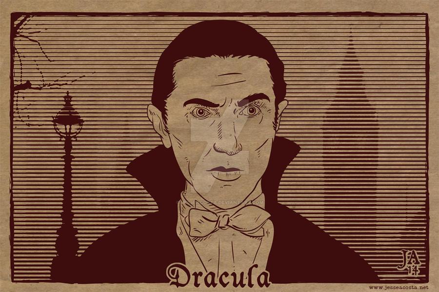 Bela Lugosi Dracula Silkscreen Postcard by JesseAcosta