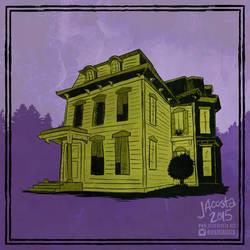 Drawlloween Day 7 - Haunted House