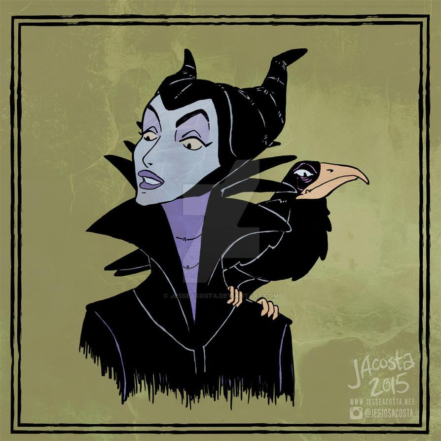 Drawlloween Day 11 - Raven by JesseAcosta