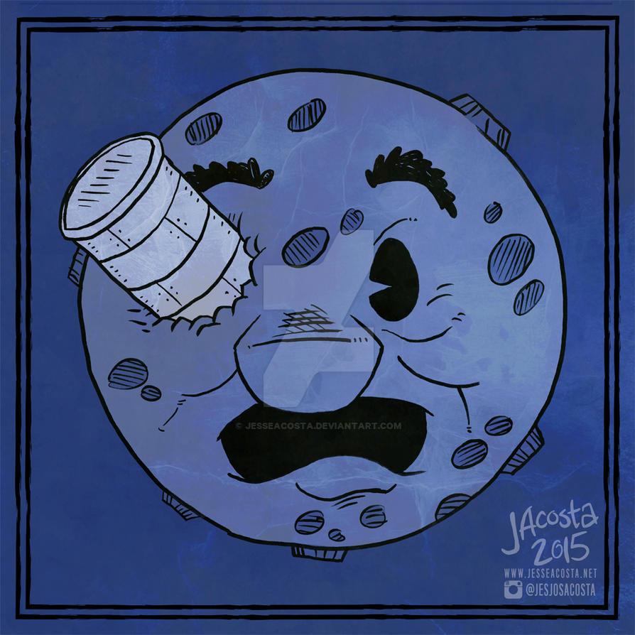 Drawllloween Day 12 - Moon by JesseAcosta