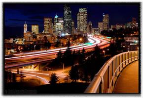 City at Night by 32tsunami