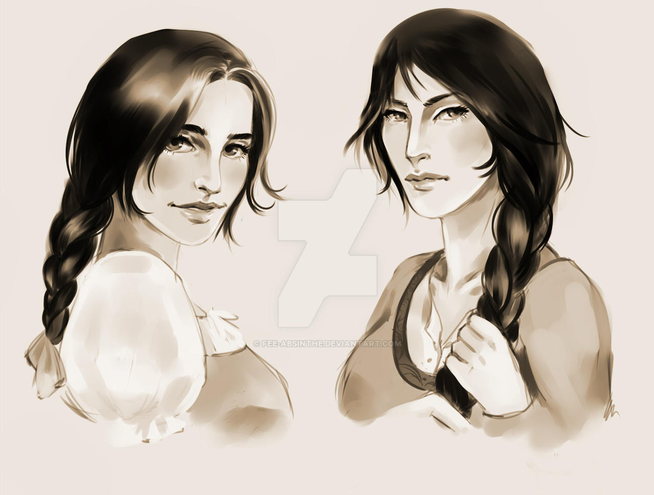 Speedpaint: Egwene and Nynaeve by fee-absinthe
