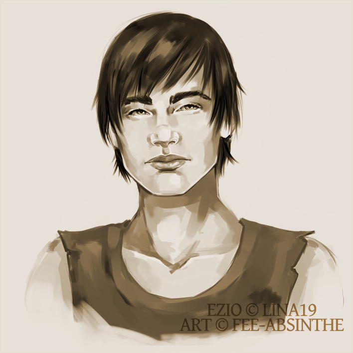 Portrait Commission: Ezio by fee-absinthe
