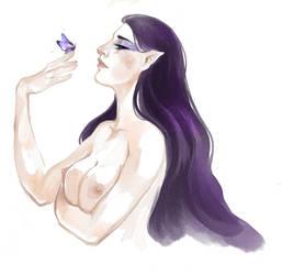 Felurian, Lady of Twilight by fee-absinthe