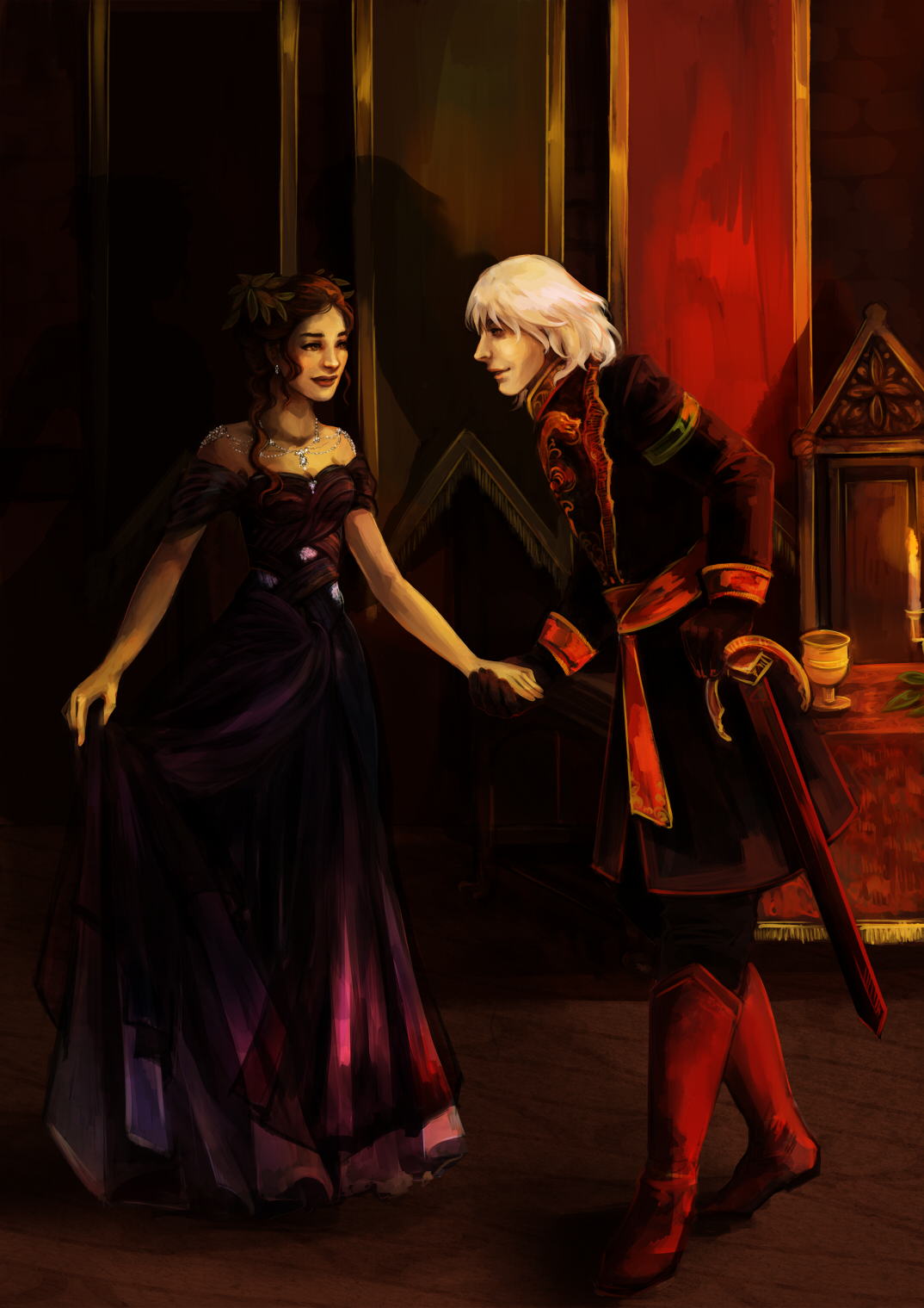 Commission: Vera and Daeron by fee-absinthe