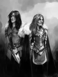 Commission: Sentaro and Kirian by fee-absinthe