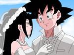 Goku x Caulifla Marriage